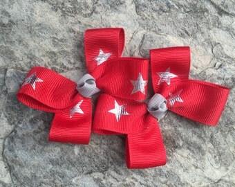 Hair Bows,Star Clippies,Pigtail Hair Bows,Baby Hair Bows,Toddler Hair Bows,3 Inch Wide Hair Bows,Birthday Party Favors