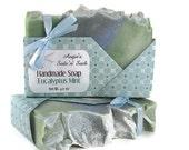 Eucalyptus Mint Soap - Peppermint, Spearmint, and Eucalyptus Essential Oil - Cold Process - Body Soap - Vegan Soap - Clearance Soap