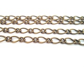 brass plated mother son chain, Pick your length,  b18