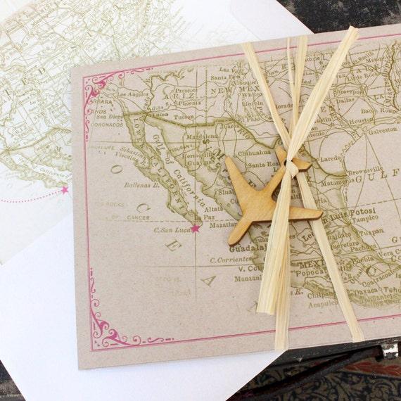 Vintage Destination Wedding Invitation Mexico Design Fee