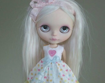 Naughty Hearts dress for Blythe, Pullip doll