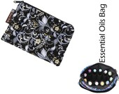 Essential Oils Take Along Bag by Borsa Bella - Waterproof lining fabric - Nightengale Fabric