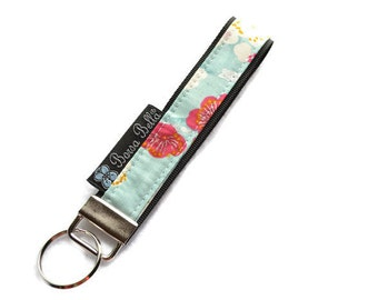 Key Fob Wristlet - Key Chain Wristlet  Fabric - Keyfob - Keychain - READY TO SHIP - Fabric
