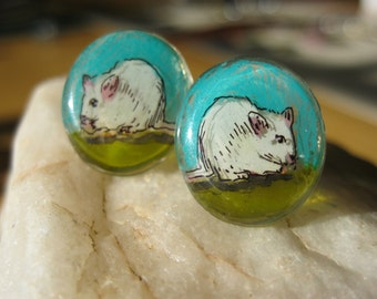 Little Mouse Stud Earrings