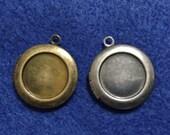 Plain Round Locket with Frame 20x20 mm - Code 284.627