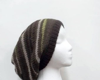 Slouchy beanie, hand knitted, knit hat, womens hat, mens hat  4993