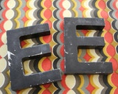 VINTAGE metal letter E for wall hanging / DECOR
