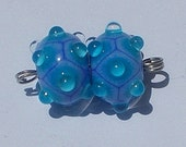 Made To Order Lampwork Bead Pair Periwinkle Blue By Cheryl's Art