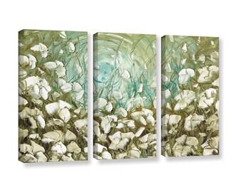 Landscape Wall Art Canvas PRINT White Poppy Flower Floral  Modern Triptych Giclee Home Decor Large ~Susanna