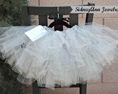 Light Grey Tutu Skirt, Grey, Tulle Skirt, Little Girl Skirt, 1st Birthday Skirt, Flower Girl Tutu Skirt, Fluffy Tutu Skirt, Little Princess