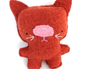 Orange Cat - Recycled Wool Sweater Plush Toy