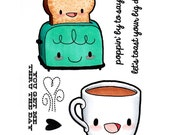 Some Odd Girl Clear Cling Rubber Stamp Set -Breakfast Friends
