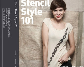 20% Off SALE! Stencil Style 101 BOOK - 20 Reusable Fashion Stencils - Ed Roth