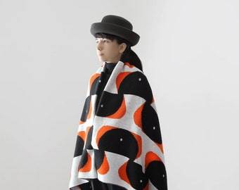 Yokoo 60x60 Blanket  'Broken Wings' in Cone Orange