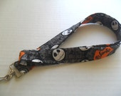 NIghtmare Before Christmas Lanyard - Fabric Lanyard - ID Badge Holder - Keychain - Badge Holder - Nightmare Before Christmas