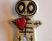 Ceramic Skeleton Pin