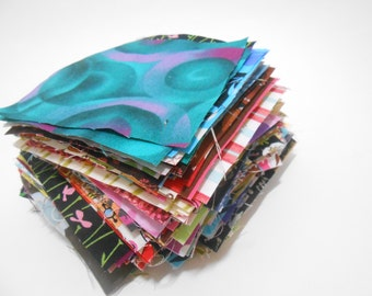 5 inch quilt fabric squares cottons Mixed lot 75