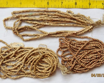303 - Vintage Wood Beads CZECH - Assorted colors Styles - 3mm