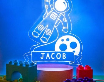 Personalised Astronaut Children's Night Light