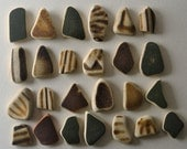 25 pieces of smooth beach pottery BPL5