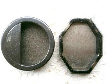 Vintage Japanese Door Pulls - Sliding Door Pulls - Octagon Semicircle A6 Hardware