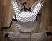 Custom Bib for your Lillebaby and other carriers Skull skulls Mustache Chevron Tattoo Guitar prints with minky lining and easily removable