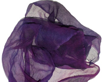 PURPLE PEOPLE EATER in  Hand Dyed Silk Gauze  for Nuno Felting