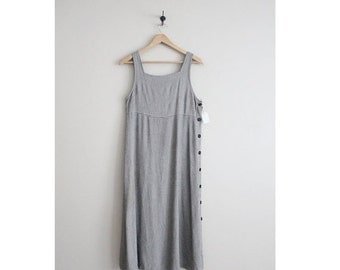 25% OFF SALE side button dress / tank dress / 90s dress