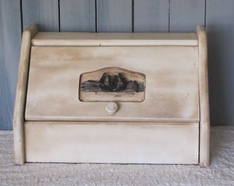 Bread Box with Horseshoes Country Western Ranch Cowboy Farmhouse Vintage Wooden Bread Box on sale