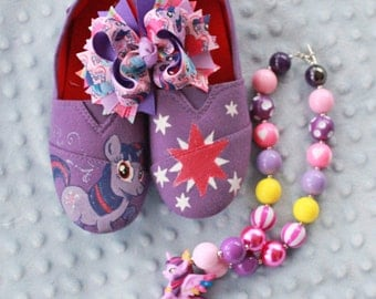Twilight Sparkle Shoes, Necklace & Hair Bow