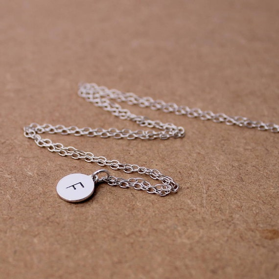 Personalised Initial Necklace - Sterling Silver Mongrammed Jewellery