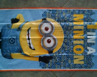"1 in A Minion Minions Minions Wall Hanging 22"" x 40"" (backed in goldenrod yellow cotton fabric) Clearance Sale 25% off *"