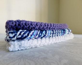 Purple Rain Dishcloth Set of 3