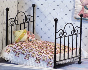 Miniature Bedspread  counted cross stitch