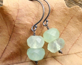 Icy Earrings in Chalcedony and Sterling Silver