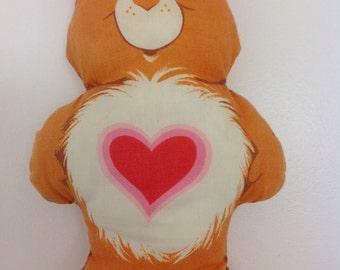 Vintage Tender Heart Bear Pillow