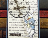 Alice in Wonderland White Rabbit ACEO - Collage Art Card ATC - Trading Card - Miniature Collage  - Book Mark