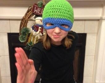 Ninja Turtle Beanie with Mask Ninja Turtle Beanie Teenage Mutant Ninja Turtle Beanie Leonardo Beanie
