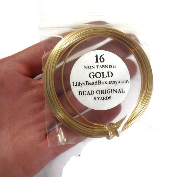 Gold Plated Wire 16 Gauge Round Wire For Making Jewelry