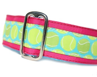 """1.5"""" Dog Collar Fetching Pink - Choose Your Collar Style!"""