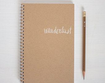 kraft foil notebook - wanderlust