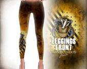 Hufflepuff Leggings - Hufflepuff Pride - Hogwarts House - Harry Potter - Printed Leggings - leggings pattern print- XS, S ,M ,L ,Xl
