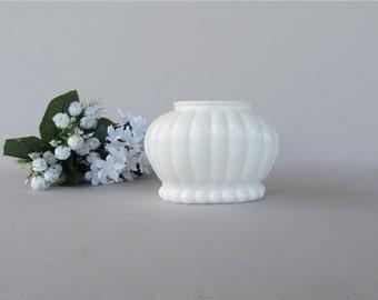 Vintage Milk Glass Flower Pot, Milk Glass Planter, Wedding Vase, Vintage Wedding Décor, Oval Planter