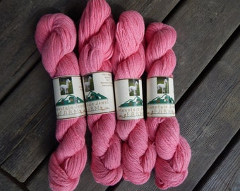 Baby Alpaca Yarn Worsted Weight Hand Dyed Princess Pink