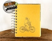 A Bicycle Built for Two - Wire-Bound Recycled Art Journal