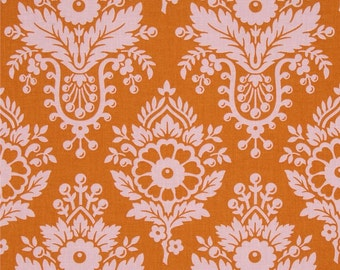 Lulu Persimmon - Up Parasol - FreeSpirit - Heather Bailey - Orange and Pink Floral Quilting Fabric - Flowers Traditional