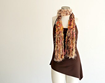 Women Scarf in Gold, Yellow, Orange, Brown and PINK Women Accessories