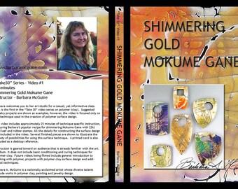 Shimmering Mokume DVD Video Tutorial on Special Technique Mokume Gane Polymer Clay