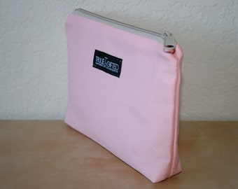 Pink Canvas Cosmetic Bag - On Sale
