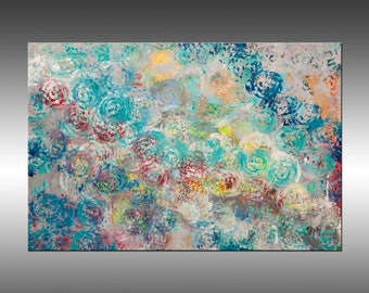 Synchronicity 10 - 24x36 Inches, Original Art Abstract Painting, Canvas Wall Art Contemporary Modern Art Painting, Portland, Oregon
